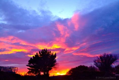 Sunrise along the Camino