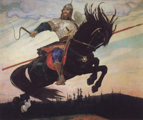 A 20th century depiction of Ilya Muromets