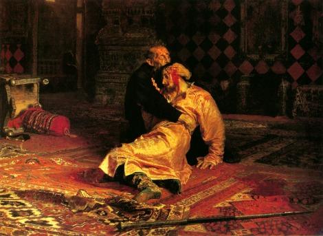 Ilya Repin's famous painting of Ivan IV killing his son