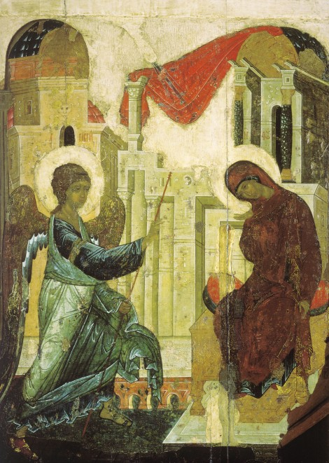 The Annunciation, by Andrei Rublev